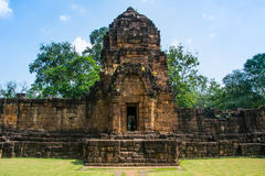 Archäologische Fundstätte, Schloss von Thailand Stockbild