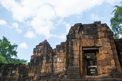 Archäologische Fundstätte, Schloss von Thailand Lizenzfreies Stockfoto