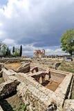 Archäologische Fundstätte um das eben errichtete St. Clements Church lizenzfreie stockfotografie