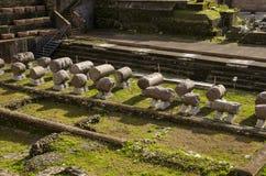 Archäologische Fundstätte und historische Entdeckungen in Rom lizenzfreie stockfotos
