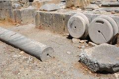 Archäologische Fundstätte von altem Gortyn Stockbild