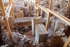 Archäologische Fundstätte von Gobekli Tepe Stockfotografie