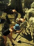 Archäologische Grabung Stockbild