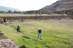 Archäologische Standortlandschaftsgestaltung Lizenzfreies Stockbild
