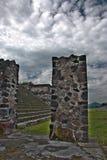 Archäologische Standortlandschaftsgestaltung Stockfotos