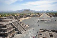Archäologische Touristenattraktion, Teotihuacan, Mexiko Lizenzfreie Stockbilder