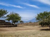 archäologische Zone von Guachimontones in TeuchitlÃ-¡ n im Staat von Jalisco Mexiko lizenzfreies stockfoto