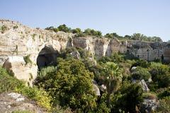 Archäologischer Park in Syrakus Lizenzfreie Stockfotos