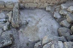 Archäologischer Park von Caesarea Stockfotos