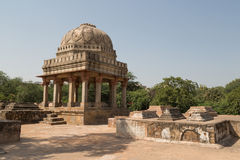 Archäologisches Gebäude, archäologischer Park Mehrauli, Neu-Delhi Lizenzfreies Stockbild
