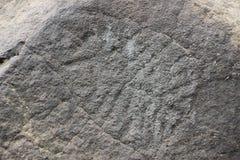 Archäologisches Monument Petroglyphen Sikachi-Alan Lizenzfreie Stockfotos