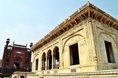 12 arché davanti a re Mosque Lahore Pakistan Fotografia Stock Libera da Diritti