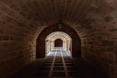 Arché del tunnel della cattedrale di Mallorca e di Almudaina Fotografie Stock Libere da Diritti