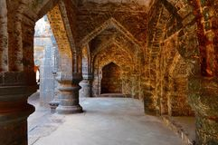 Arché della fortificazione teenager di Darwaja Panhala, Kolhapur, maharashtra Fotografia Stock