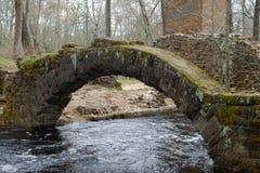 Arché di pietra da una vecchia fornace Immagine Stock