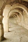 Arché di pietra del teatro antico di Aspendos Fotografia Stock