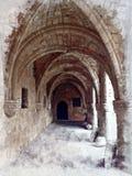 Arché ed ornamenti Mediterranei antichi immagine stock libera da diritti