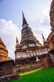 Archéologique en Wat Yaichaimongkol Image libre de droits