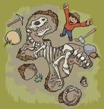 Archéologue illustration de vecteur