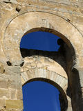 Arch. Arabic arch in gormaz (Soria-Spain Royalty Free Stock Photography