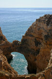 Arch. Shaped cliff on the atlantic coast Stock Images
