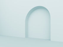 Arch. 3d Illustration of Blue Arch Interior Background royalty free illustration