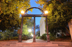 The Arch. Historic cast-iron archway dubbed The Arch on the campus of the University of Georgia (UGA) in Athens, Georgia, USA. Legend has it that if you walk Stock Photos