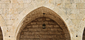 Arch. A typical Lebanese arch in an old Christian monastery Stock Photography