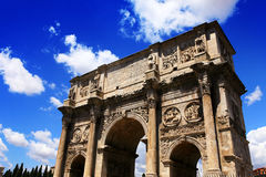 Arch. Ancient Arch of Constantine in Rome Royalty Free Stock Photography