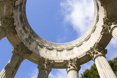 Arch. Beautiful arch on blue sky Royalty Free Stock Photography
