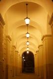 Arch. A long corridor of arches Stock Image