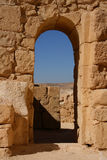 Arch. Reconstructed byzantine house in Avdat, Israel Royalty Free Stock Photo