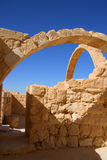 Arch. Reconstructed byzantine house in Avdat, Israel Royalty Free Stock Photos