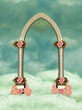 Arch. With flowers in the sky Royalty Free Stock Photo