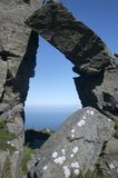 Arch. In the valley of rocks, exmoor national park, devon royalty free stock photos