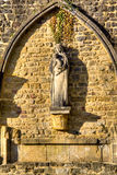 Arch at the abbey of Orval in Belgium Royalty Free Stock Images