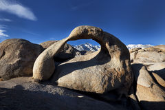 Arch, Alabama Hills and Mt. Whitney. Lone Pine, California Royalty Free Stock Images