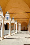 Arch alley. In old building.Pisa, Italy Royalty Free Stock Photos