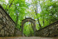 Arch along way of the cross. Stone arch along way of the cross. Religion Royalty Free Stock Photography