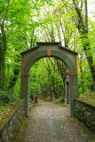 Arch along way of the cross. Stone arch along way of the cross. Religion Stock Images