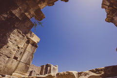 Arch at amphitheater in Miletos Stock Photo