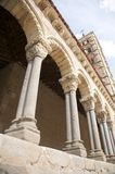Arch of ancient church in segovia Stock Photos