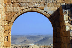 Arch in the ancient city of Avdat. Israel Stock Image