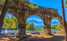 Arch of the ancient city. Turkey, Phaselis, 08,08,2017 Arch of the ancient city Stock Photo