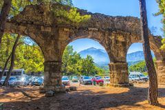 Arch of the ancient city. Turkey, Phaselis, 08,08,2017 Arch of the ancient city Stock Photos