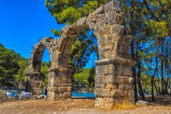 Arch of the ancient city. Turkey, Phaselis, 08,08,2017 Arch of the ancient city Stock Photography