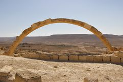 Arch in an ancient desert city Israel Royalty Free Stock Photos
