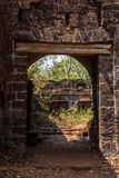 Arch at ancient fortress wall. Redi fort (Yashwantgad Fort). Ind. Ia, Maharashtra Stock Photos