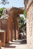Arch of the ancient greek theater in Taormina, Sicily, Italy. The ruins of the arch of the ancient greek theater in Taormina, Sicily, Italy Stock Photography