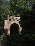 Arch. Ancient stone arch in thickets Stock Images